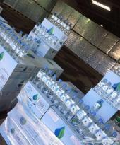 الكرتون بسعر الكاش عرص خاص شركة مياه رامه