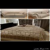 كنب نظيف للبيع و سرير ايكيا بالرس