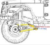 AEV Correction Bracket Jeep Wrangler JK
