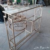 طاولات حديد سرير حديد شباك حديد مدخل حديد تبو
