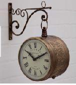ساعة حائط وجههين ( فخمة  ) مستوردة