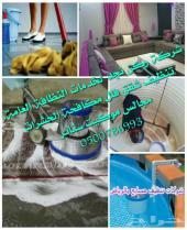 شركة تنظيف شقق فلل خزانات مجالس موكيت رش مبيد