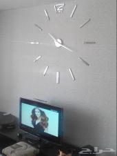(خصم) ساعة حائط ثلاثية الأبعاد 3D