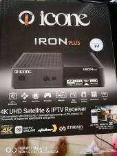 رسيفر ICONE IRON PLUS 4K الكوري حصريا لدينا