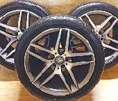 جنوط مرسيدس S500 2016 مع كفرات رن فلات بيرلي