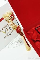 هدايا زواج خطوبة تخرج تهنئة مولود وردة ذهبية