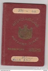 جواز سفر المملكة العراقية 1938 م