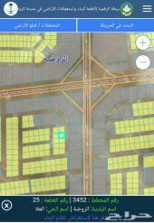 ارض شرق الرياض مخطط(3452)حي العلا من المالك