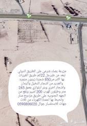 مزرعة بمنطقة الجوف تبعد عن محافظة طبرجل 22 يل