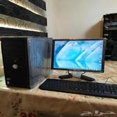 كمبيوتر مكتبي ديل مع ملحقاته