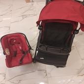 عربية اطفال مع كرسي سيارة