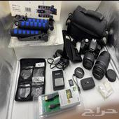 كاميرا كانون مع استديو للبيع بسعر فرصه