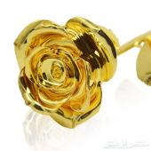 اجمل هدايا مطليات الذهب ورد جوري وسلسال القلب