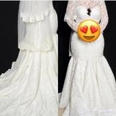 فستان عروس مع طرحة موديل فرنسي