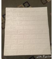 ملصق 3D فوم تزين حائط على شكل طوب بلاصق ذاتي