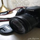كاميرا كانون 600D EOS Rebel كالجديده
