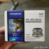 للبيع عدسة اوليمبوس زويكو 45mm f1.8 Olympus