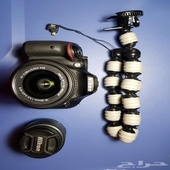 كاميرا نيكون d5200 مع عدسة wide angle 50mm