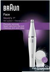 جهاز إزالة شعر الوجه من براون مع فرشاة تنظيف