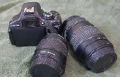كاميرا كانون احترافيه600Dمع ملحقاتها والعدسات