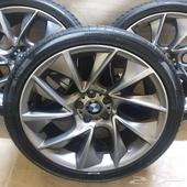 جنوط BMW 2018 الشكل الفل مع كفرات جديده