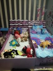 سرير اطفال بناتي للبيع