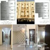 شقة 3 غرف وصالة بالواحة بصك جديدة 250 ألف