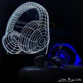 إضاءة 3D الليلية متعددة الألوان