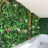تنسيق حداىق وعشب جداري 3D وخشب معالج