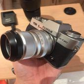 fujifilm xt-20 with two lenses