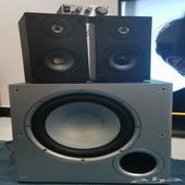 سماعات استريو 2.1 مضخم صوت