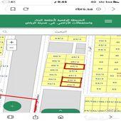 ثلاث قطع في حي الرفيعة شمال الرياض مخطط 3180