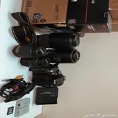 كاميرا نيكون d5300 مع عدساتها