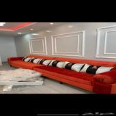 للبيع كنب حرف L طول 3 متر مع اريكه متر نظيف