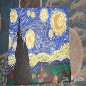 لوحة تقليد لفان جوخ ليلة النجوم