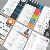 سيرة ذاتية انفوجرافيك لغتين عاجلة