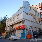 عمارة دورين وملحق تجاري سكني شارع النزهه بصك