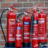 طفاية حريق وجميع ادوات السلامة