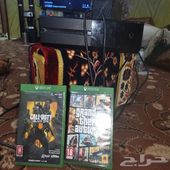 Xbox 1 مع الاشرطه
