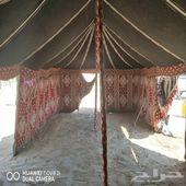 خيمة نظيفه جدا مقاس سته في تسعه عمودين مبطنه