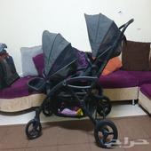 عربية اطفال مزدوجة توأم تؤام شبه جديدة للبيع