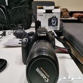 كاميرا كانون canon مع عدسه وعدة تصوير