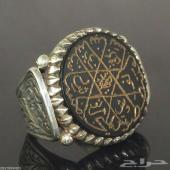 خاتم عجيب قديم أثري عقيق الجزع
