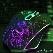 ماوس العاب احترافية RGB للكمبيوتر واللاب توب