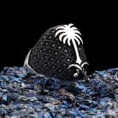 خاتم فضة عيار 925 بشعار المملكة