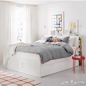 سرير ايكيا مع دروج
