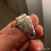 للبيع خاتم فضه الماس 18 حبه جديد