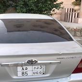 لوحه مميزه للبيع مع السياره كرولا 2002