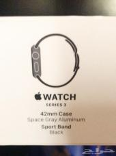ساعة أبل سبورت نظيفة Apple Watch series 3 42m