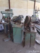 معدات ومقاصات المونيوم وحديد ودريلات أصلية